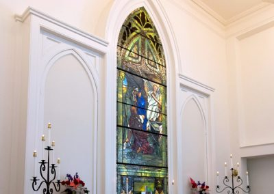 photo of stained glass at AVC